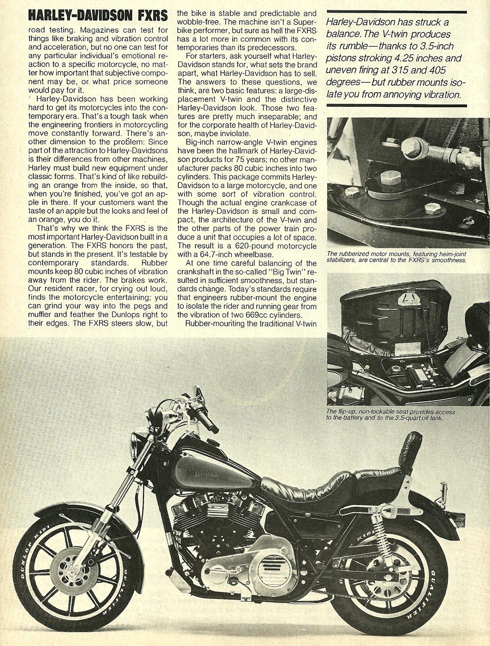 1982 Harley-Davidson FXRS road test 03.jpg