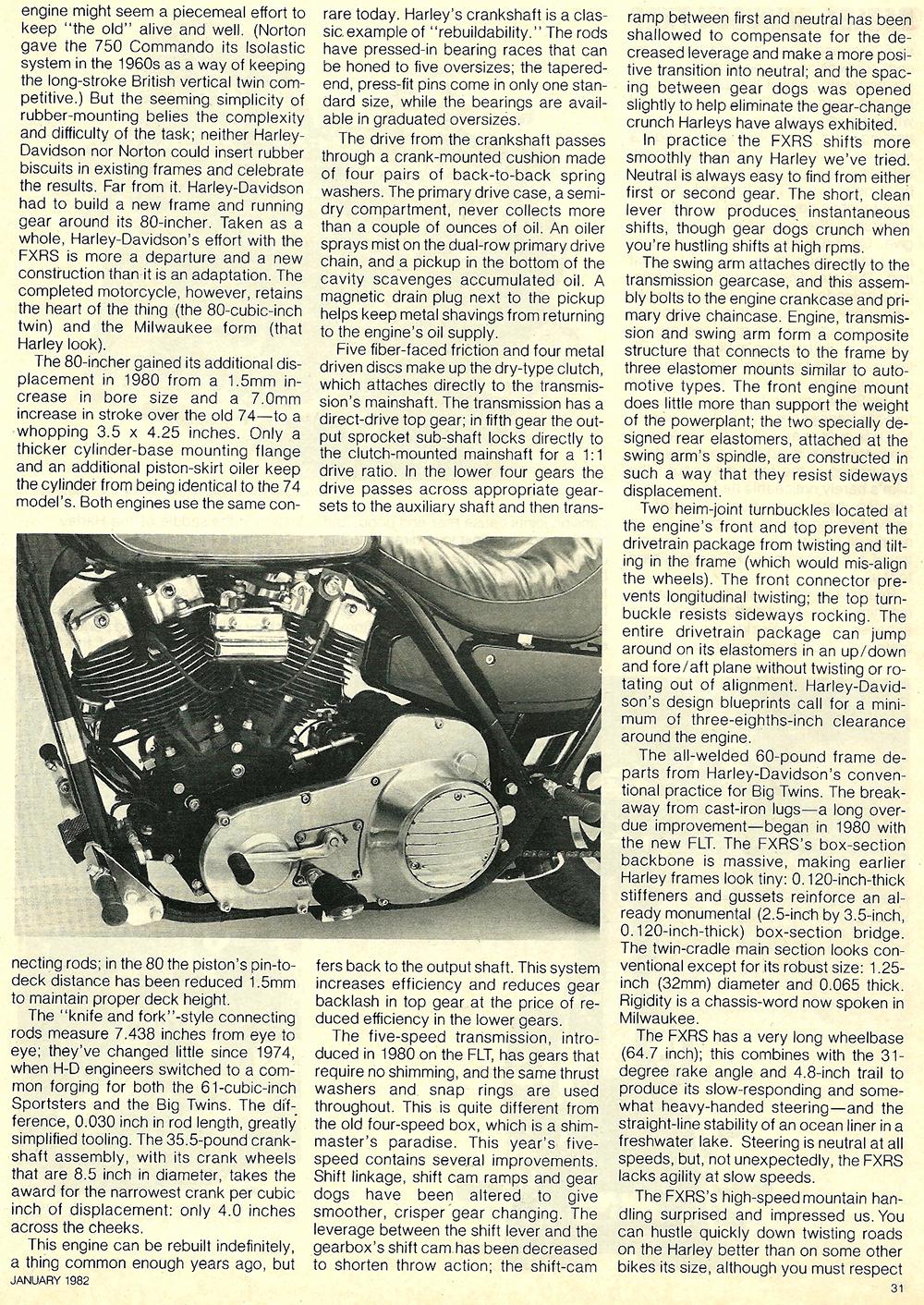 1982 Harley-Davidson FXRS road test 04.jpg