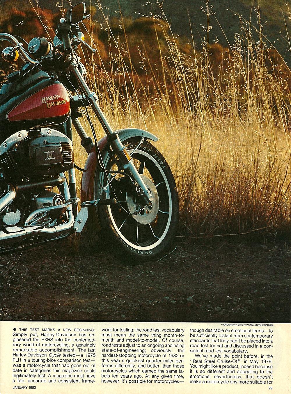 1982 Harley-Davidson FXRS road test 02.jpg