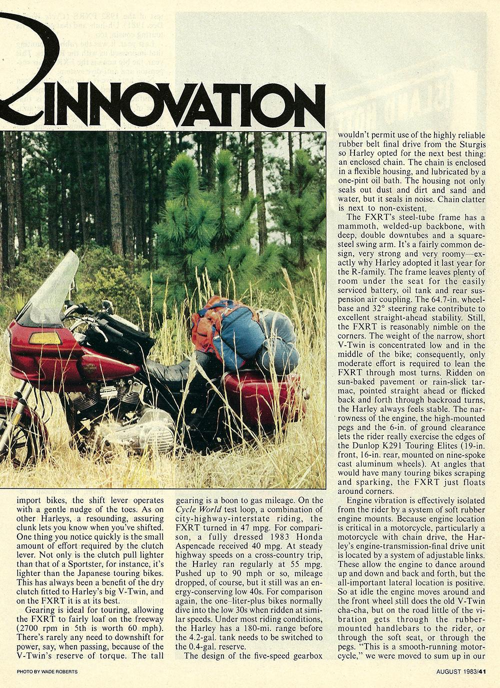 1983 Harley-Davidson FXRT road test 02.jpg