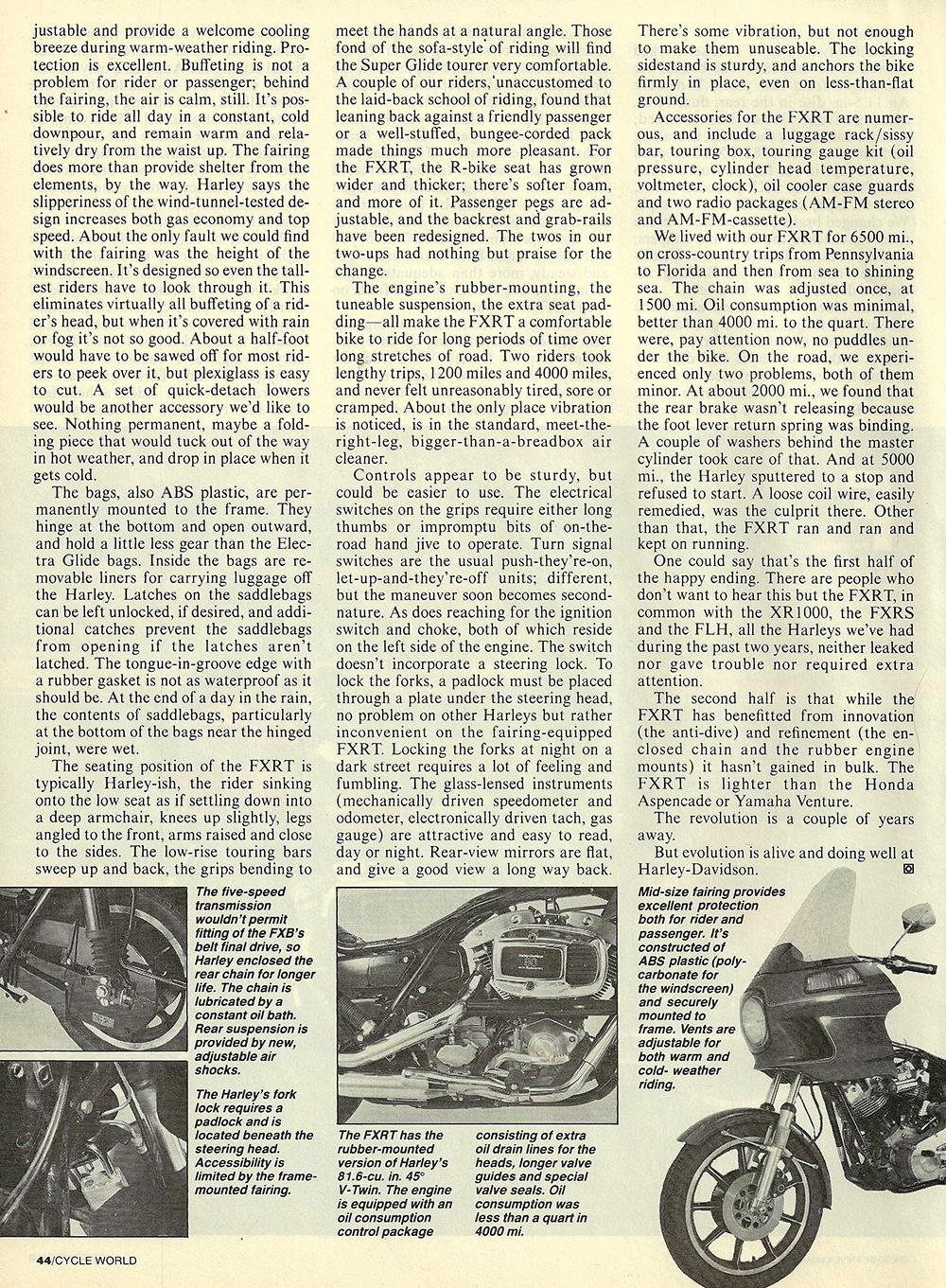 1983 Harley-Davidson FXRT road test 05.jpg