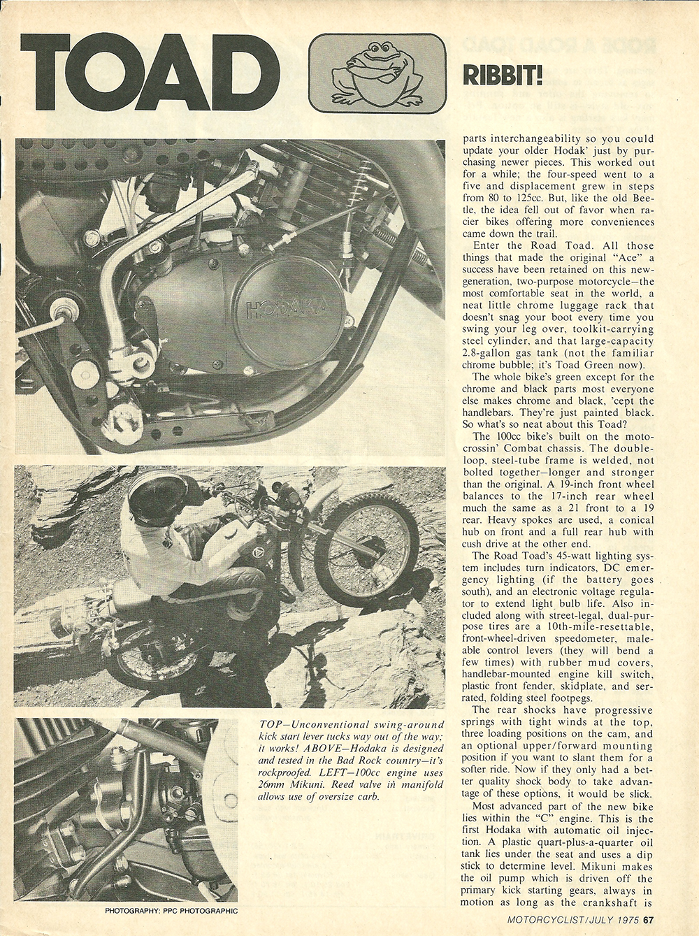 1975 Hodaka Road Toad 100 road test 2.jpg