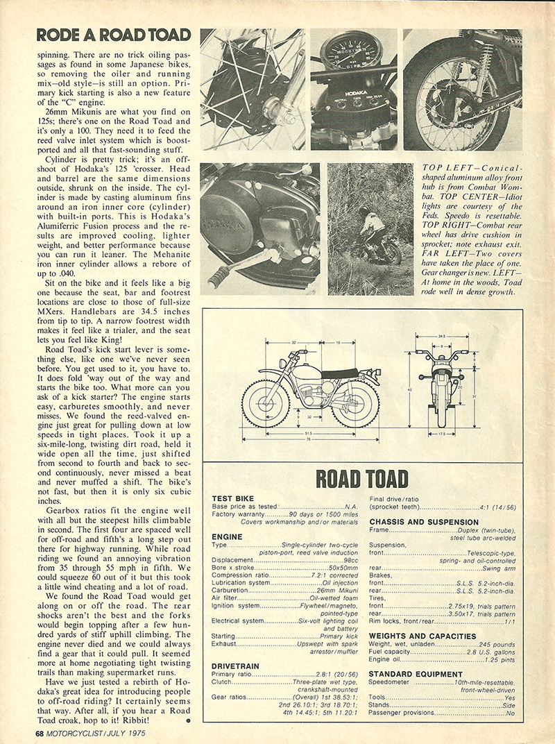 1975 Hodaka Road Toad 100 road test 3.jpg