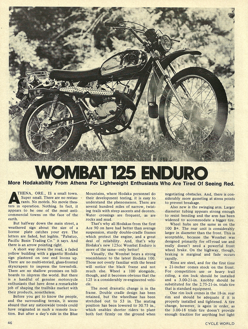 1972 Hodaka Wombat 125 Enduro road test 01.jpg