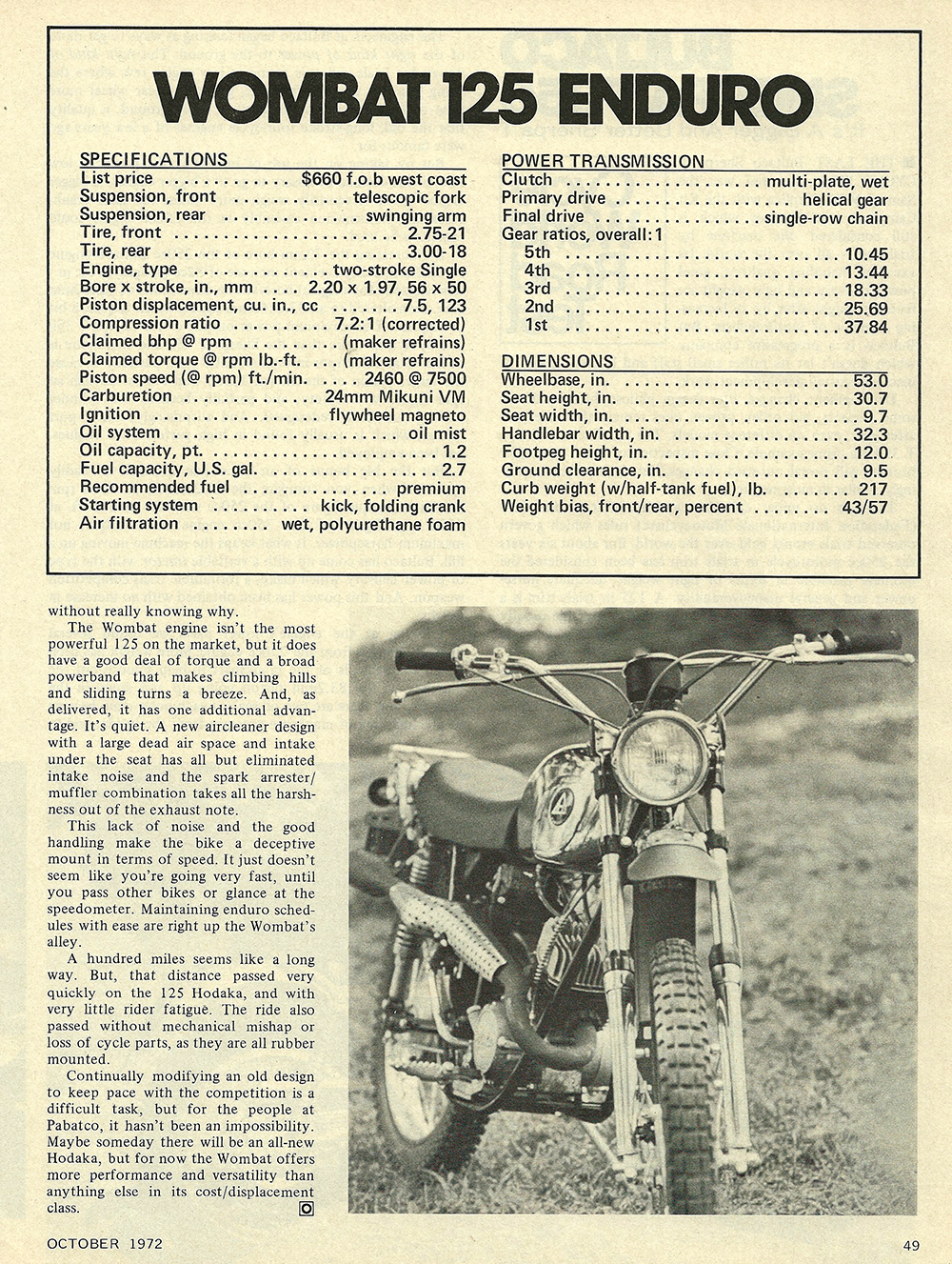 1972 Hodaka Wombat 125 Enduro road test 04.jpg