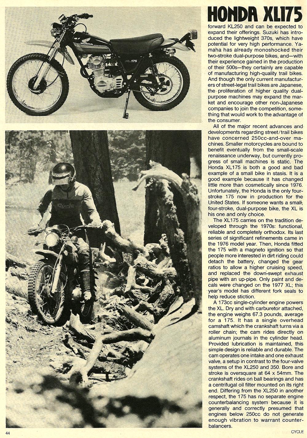 1978 Honda XL175 road test 02.jpg