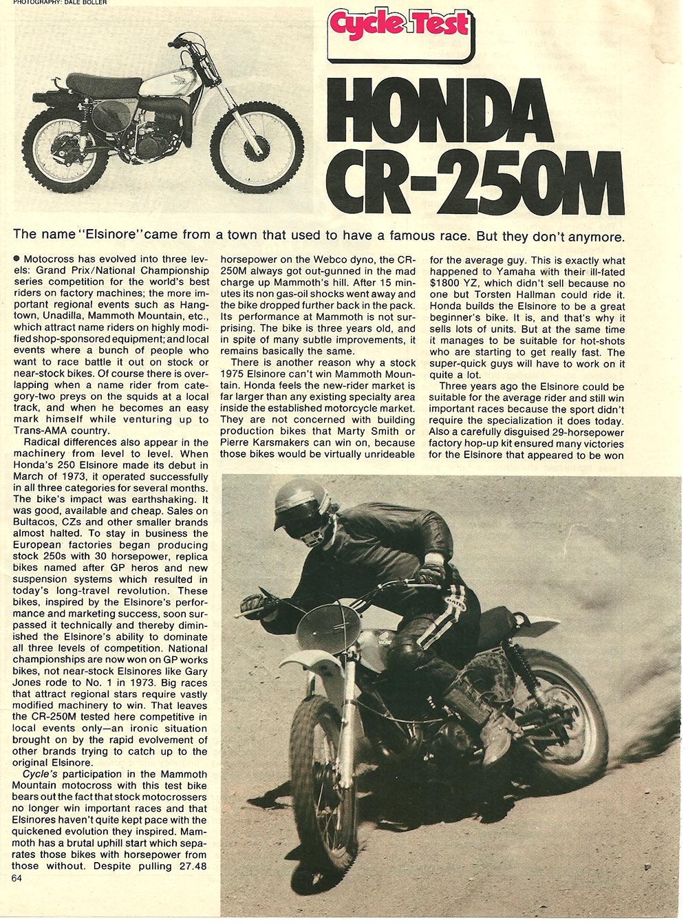 1975 Honda CR250M road test 1.png