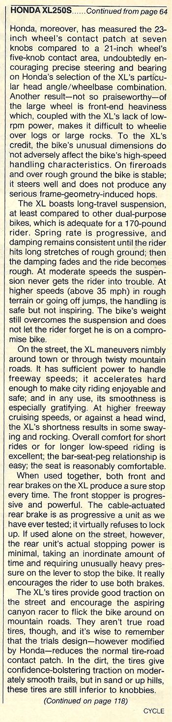 1978 Honda XL250S road test 09.jpg