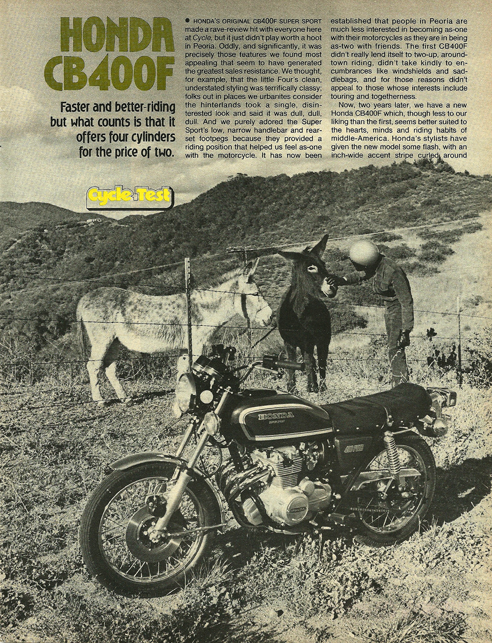 1977 Honda CB400F road test 01.jpg