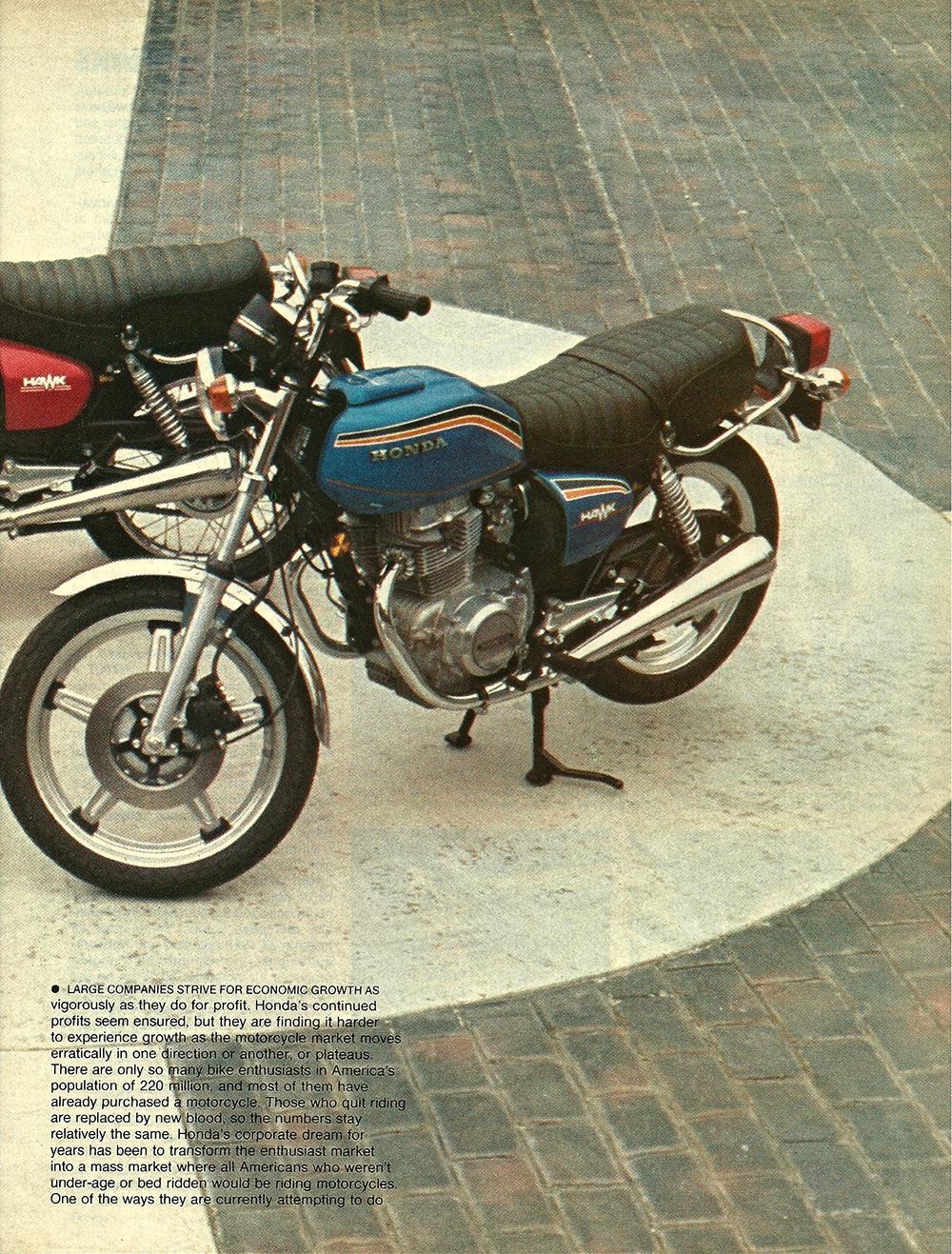1977 Honda 400 Hawk road test 02.jpg