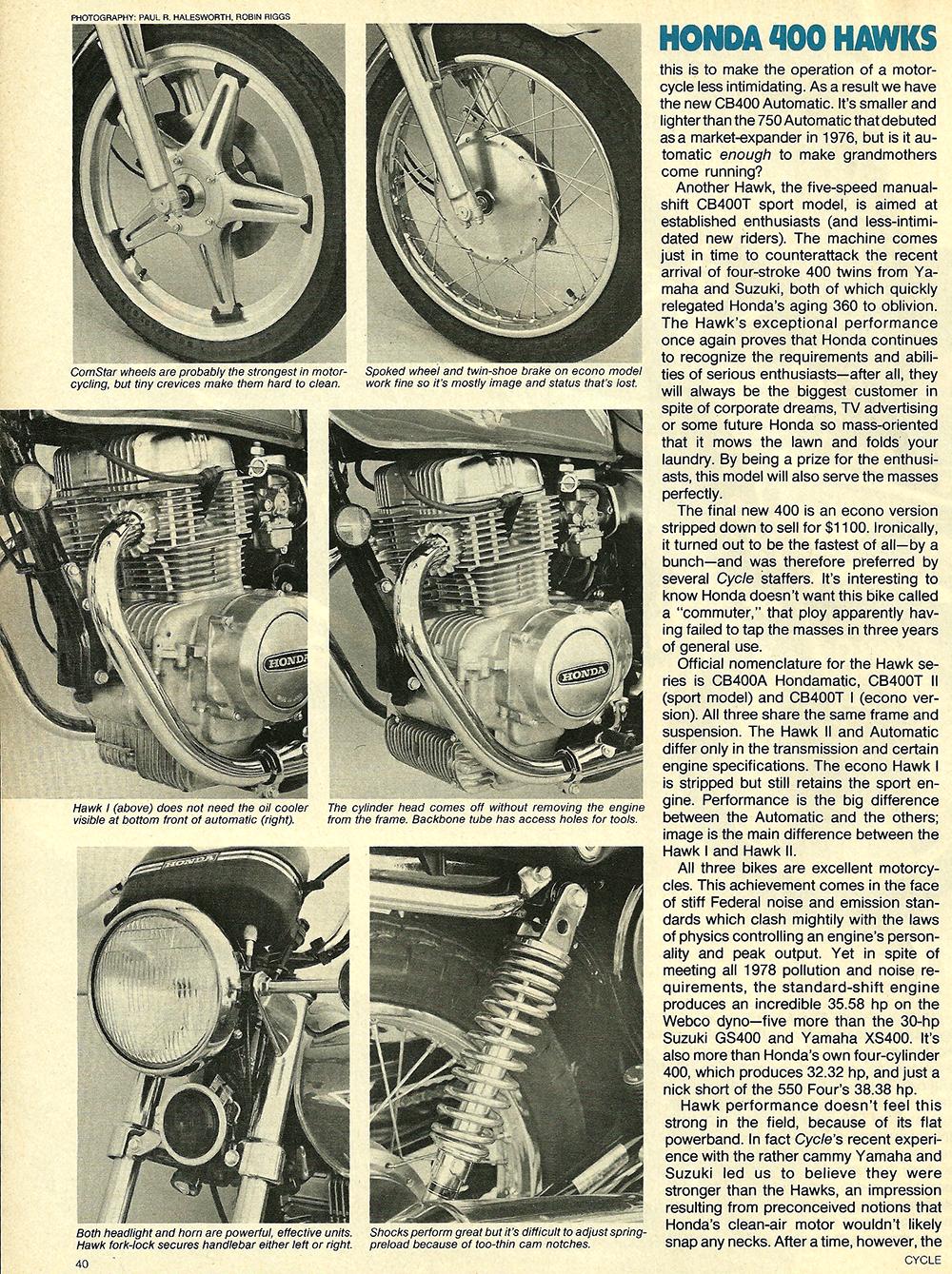 1977 Honda 400 Hawk road test 03.jpg