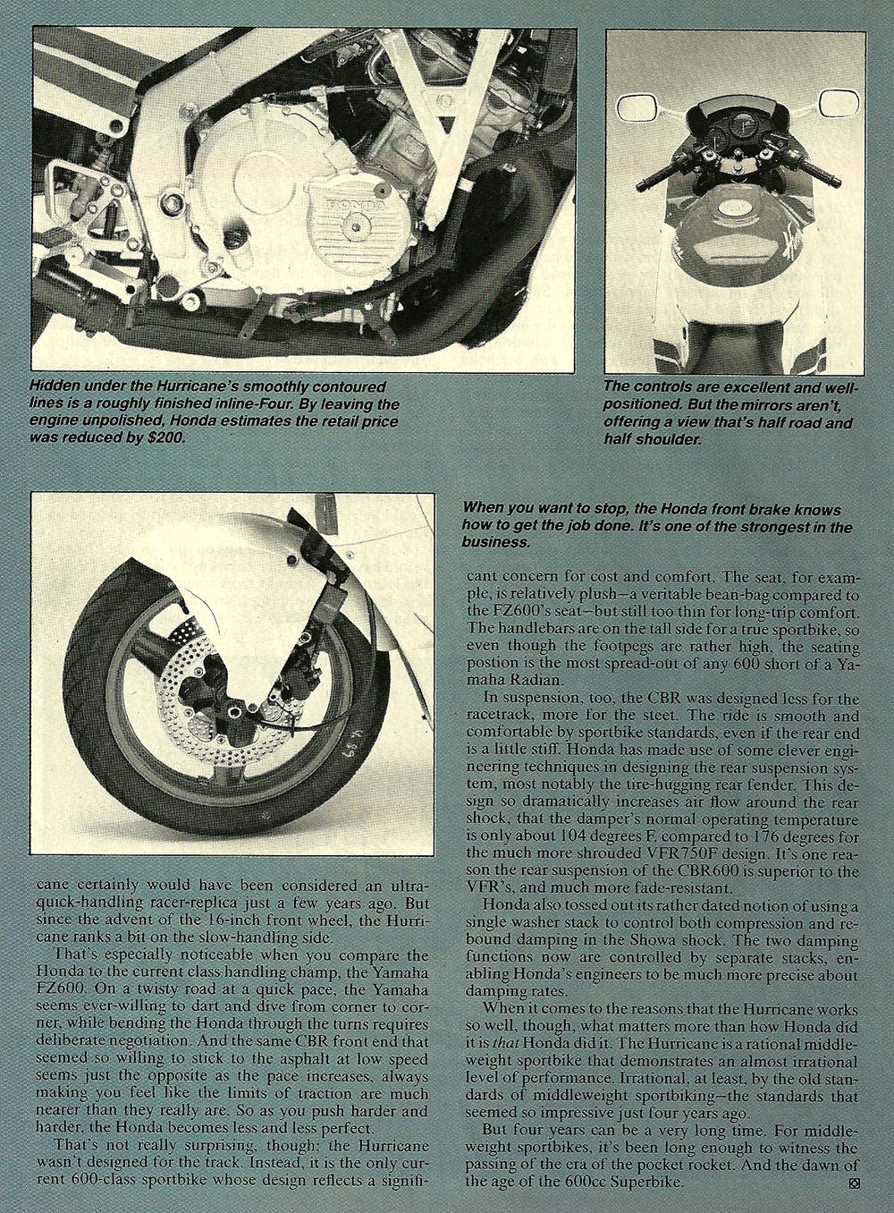 1987 Honda CBR600F Hurricane road test 07.jpg