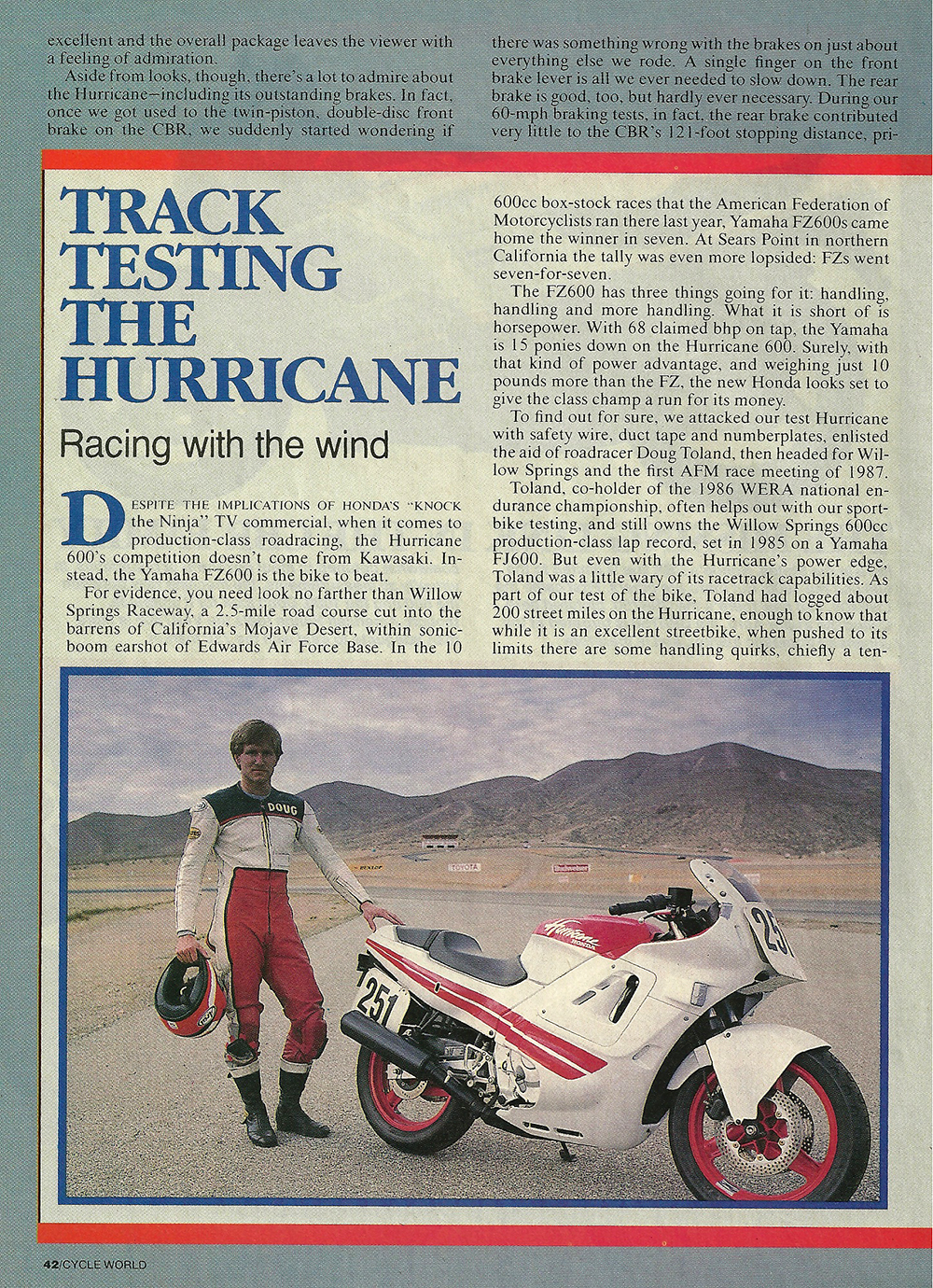 1987 Honda CBR600F Hurricane road test 05.jpg