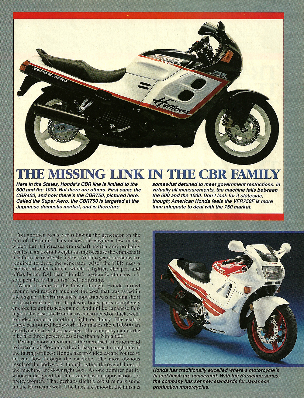 1987 Honda CBR600F Hurricane road test 04.jpg