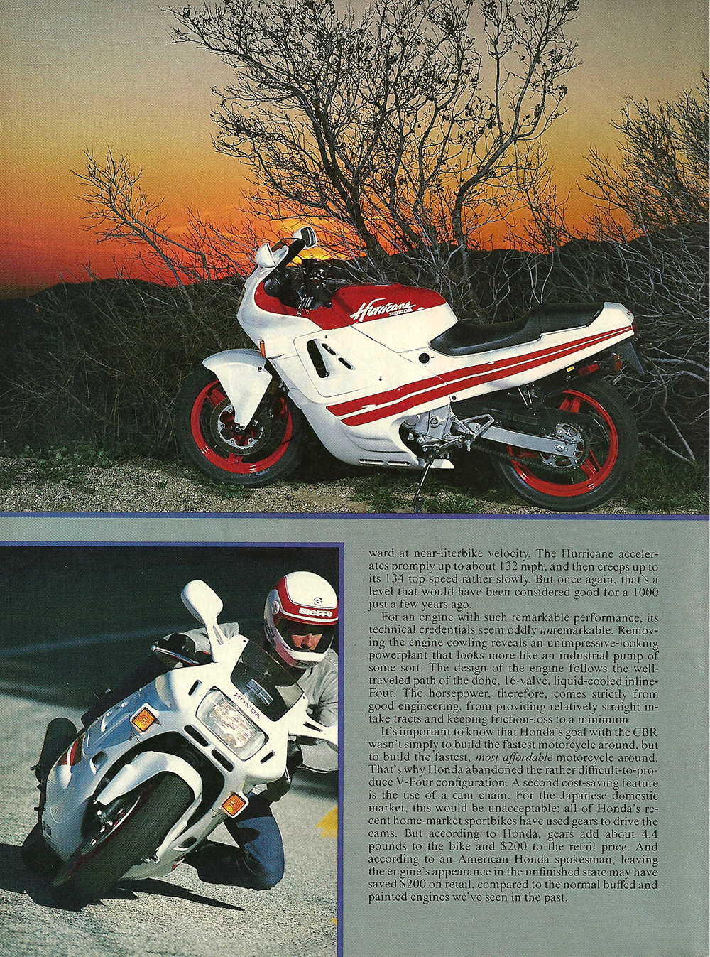 1987 Honda CBR600F Hurricane road test 03.jpg
