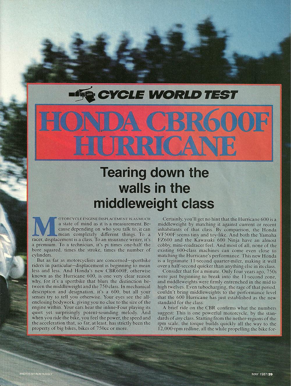 1987 Honda CBR600F Hurricane road test 02.jpg