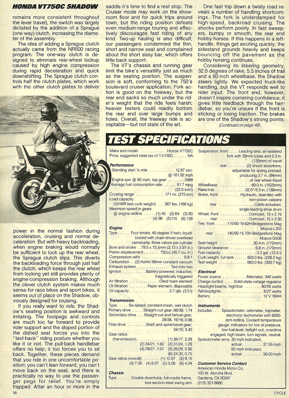 1983 Honda VT750C Shadow road test 8.jpg