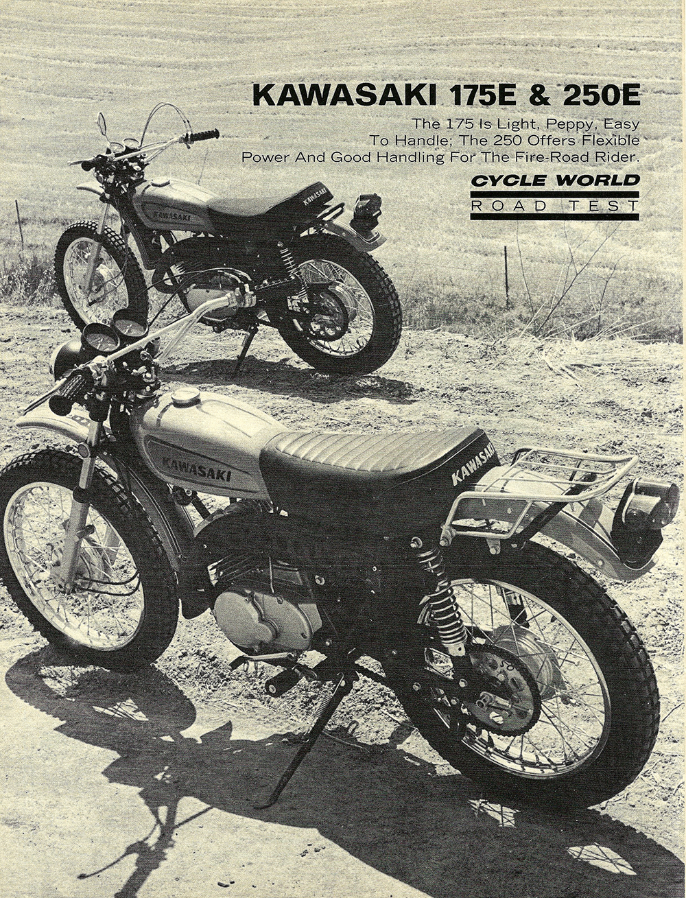 1970 Kawasaki 175E and 250E road test 01.jpg