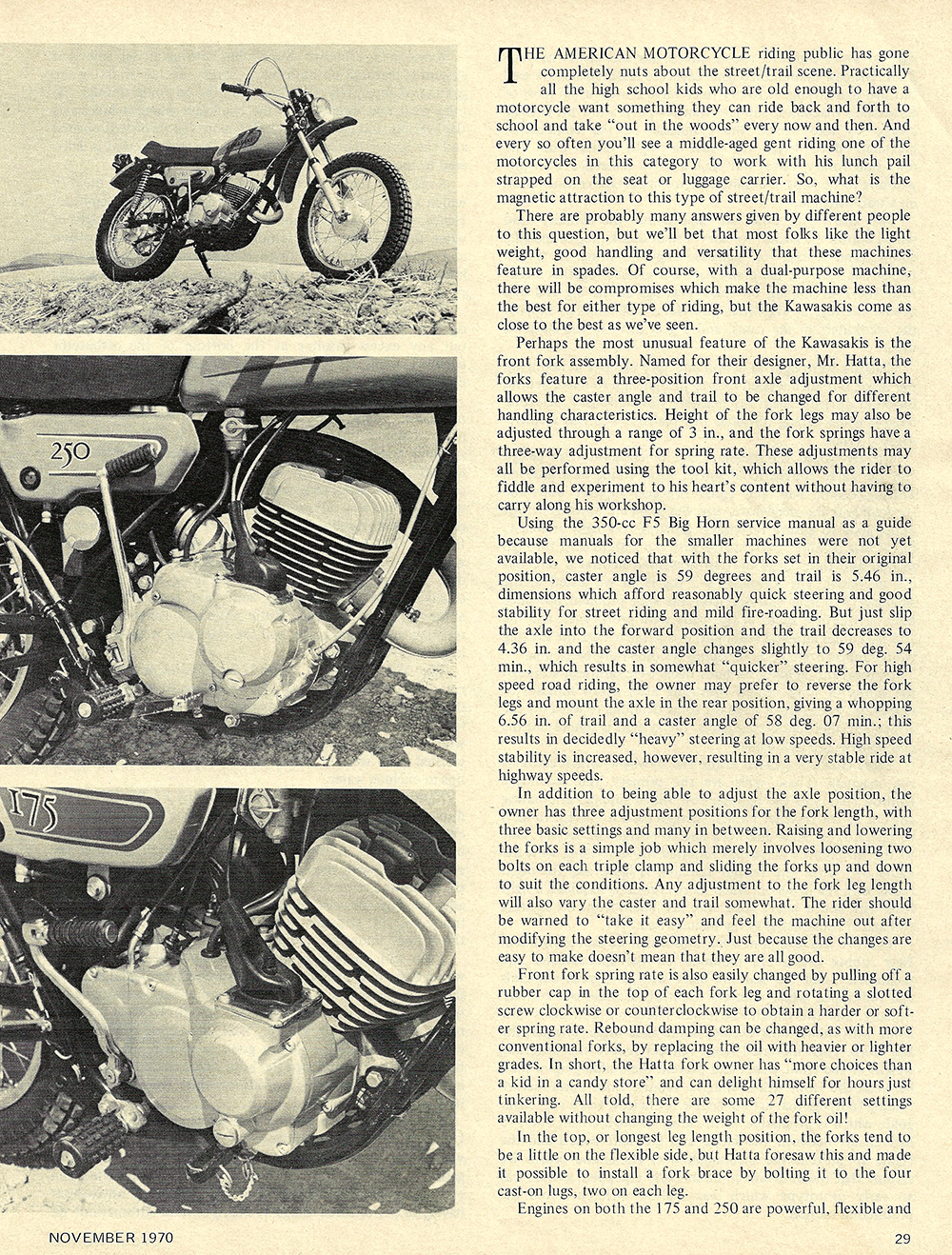 1970 Kawasaki 175E and 250E road test 02.jpg