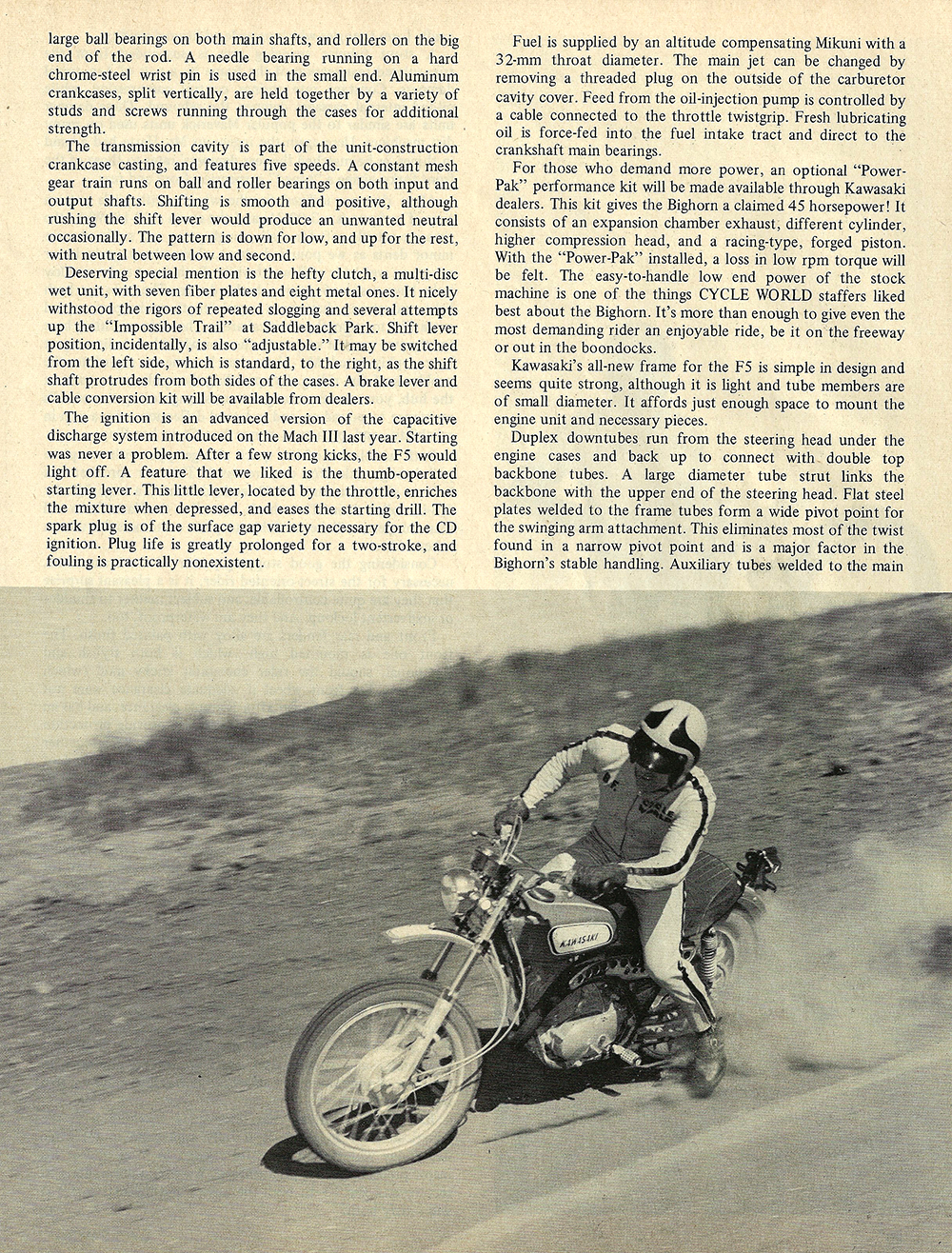 1970 Kawasaki F5 Bighorn road test 04.jpg