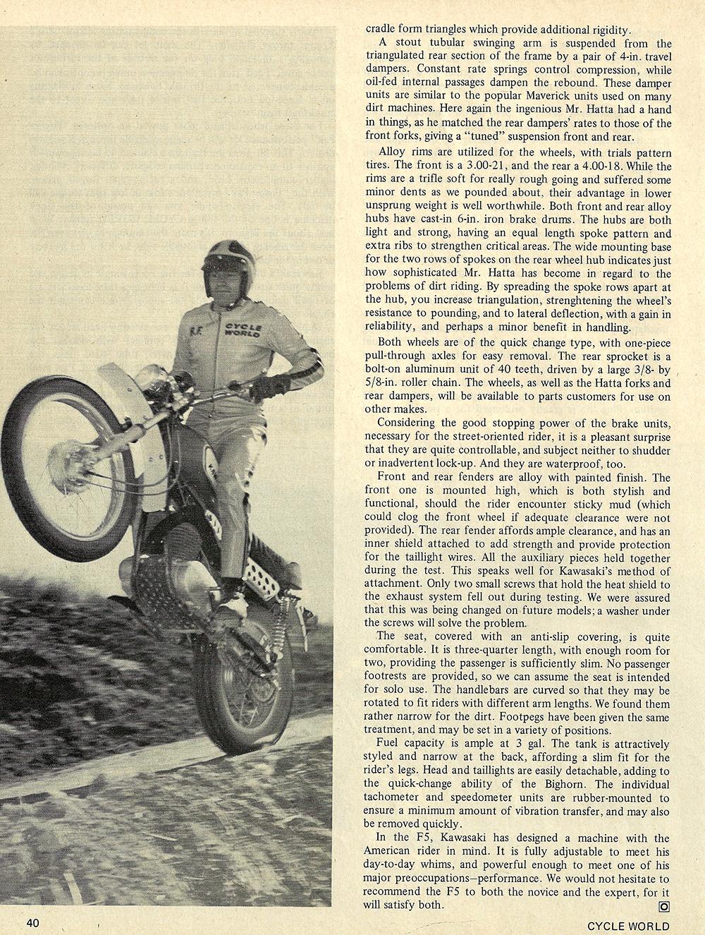 1970 Kawasaki F5 Bighorn road test 05.jpg