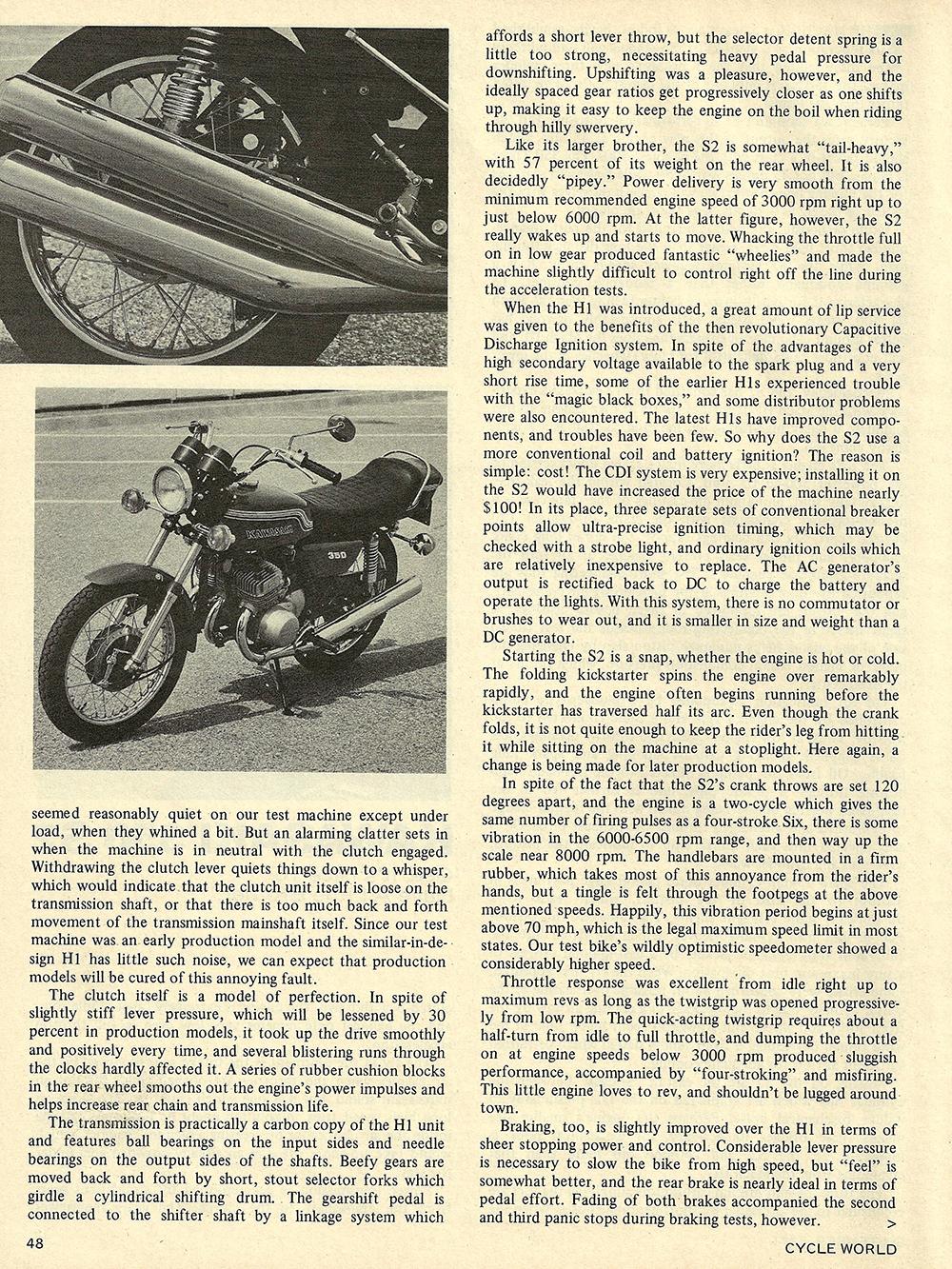1971 Kawasaki 350 S2 road test 03.jpg