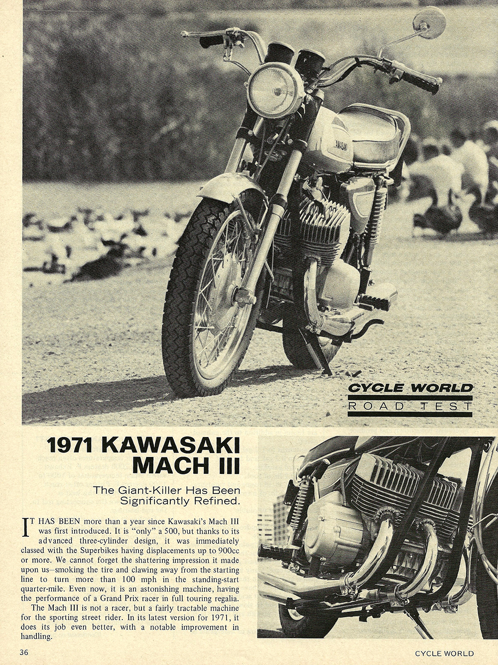 1971 Kawasaki Mach 3 road test 01.jpg