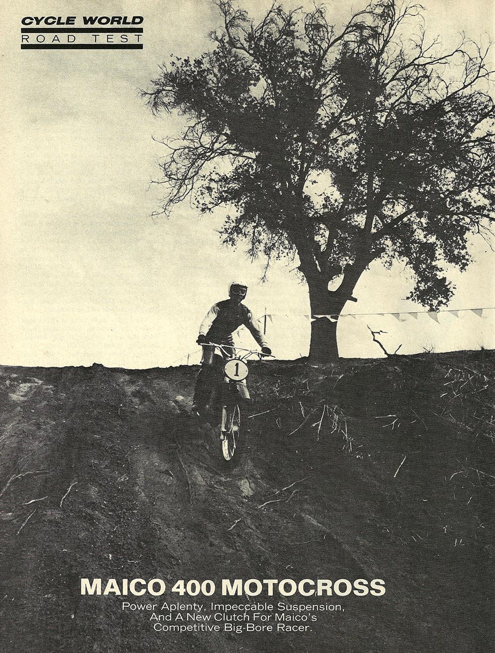 1971 Maico 400 Motocross road test — Ye Olde Cycle Shoppe