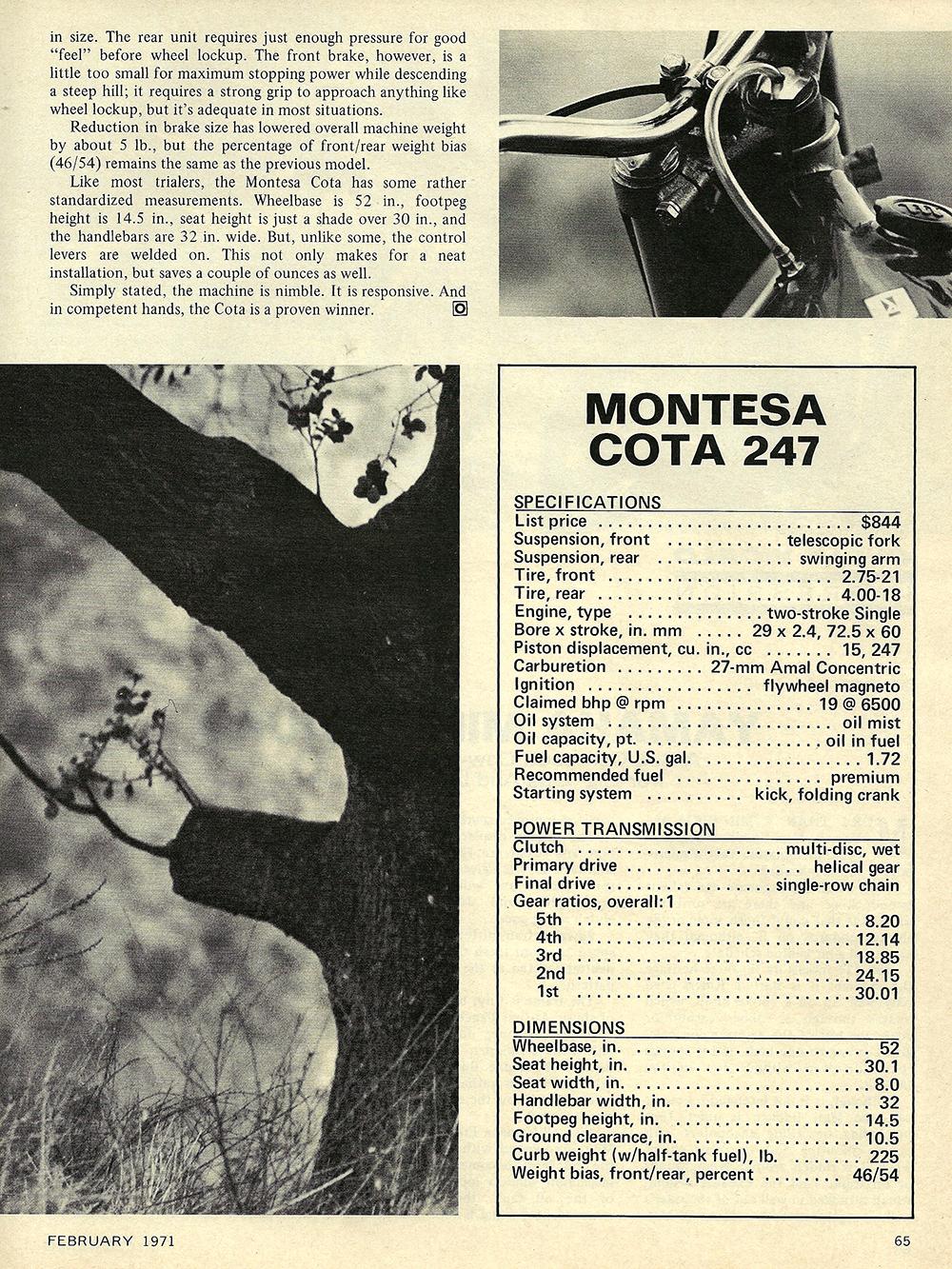 1971 Montesa Cota 247 road test 04.jpg