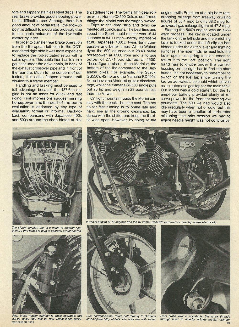 1980 Moto Morini 500 Sport road test 4.JPG