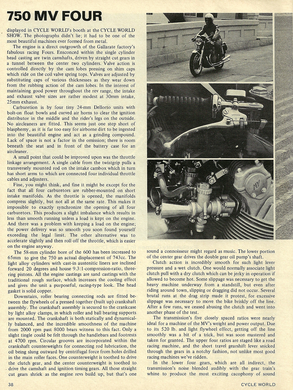 1971 MV 750 four road test 02.jpg
