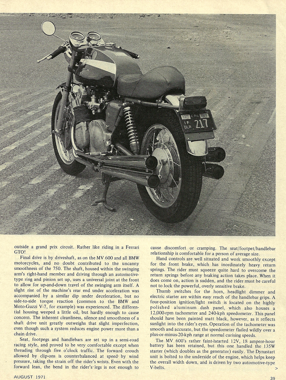 1971 MV 750 four road test 03.jpg
