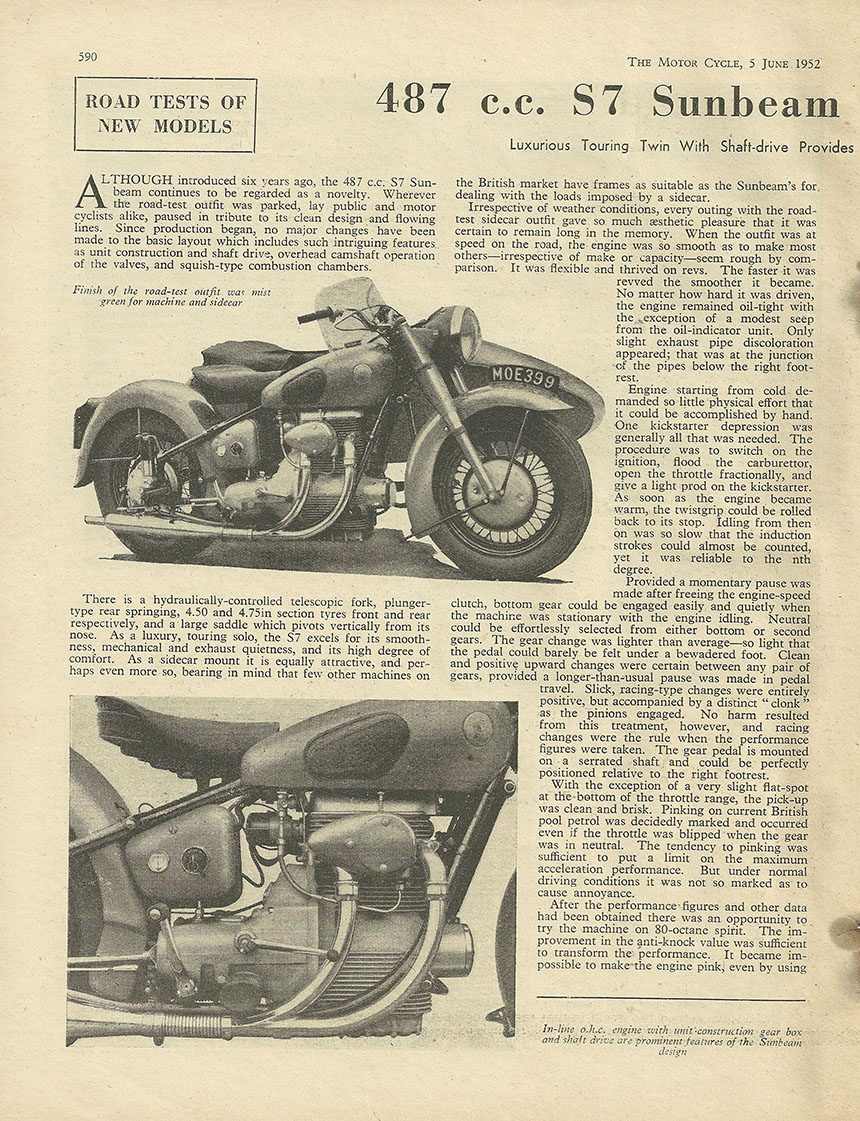 1952 Sunbeam 487cc S7 road test 1.JPG