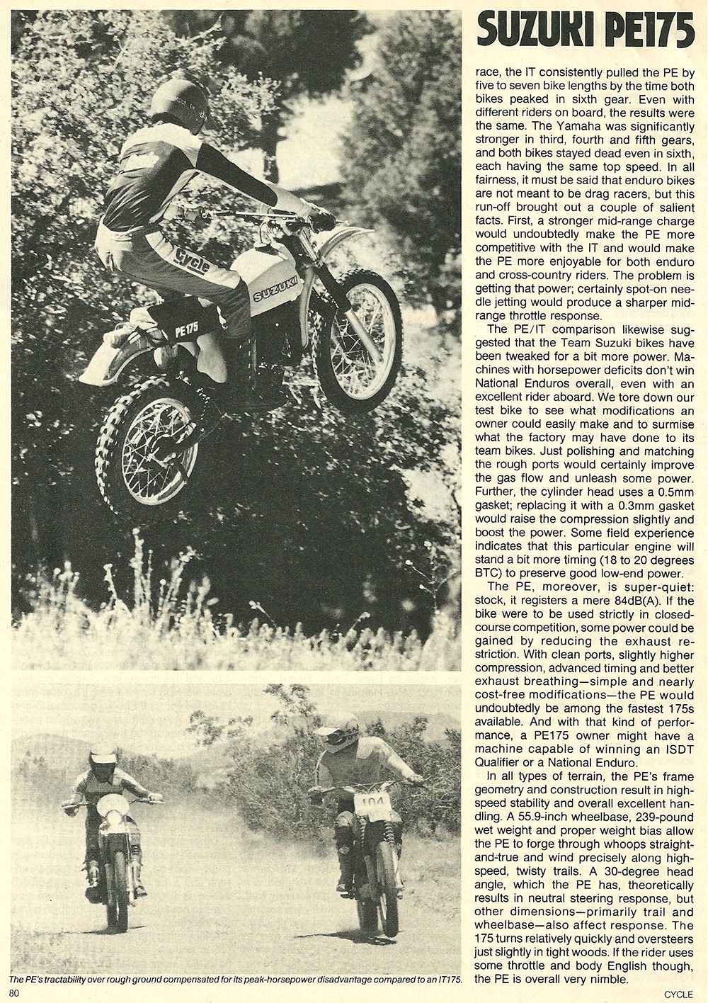 1978 Suzuki PE175 road test 05.jpg