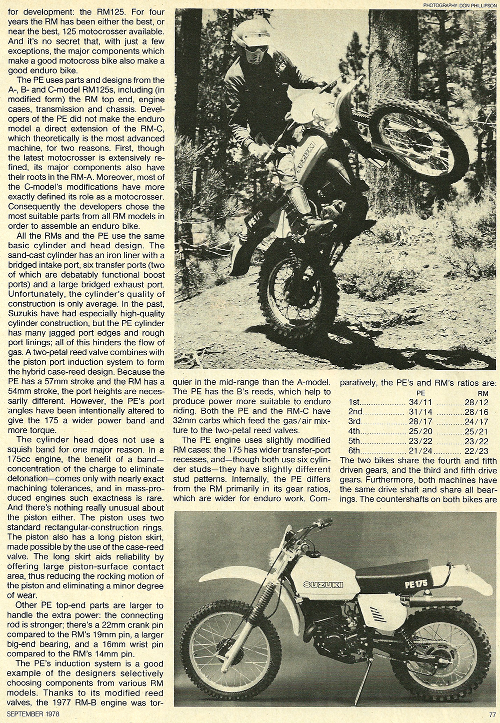 1978 Suzuki PE175 road test 02.jpg