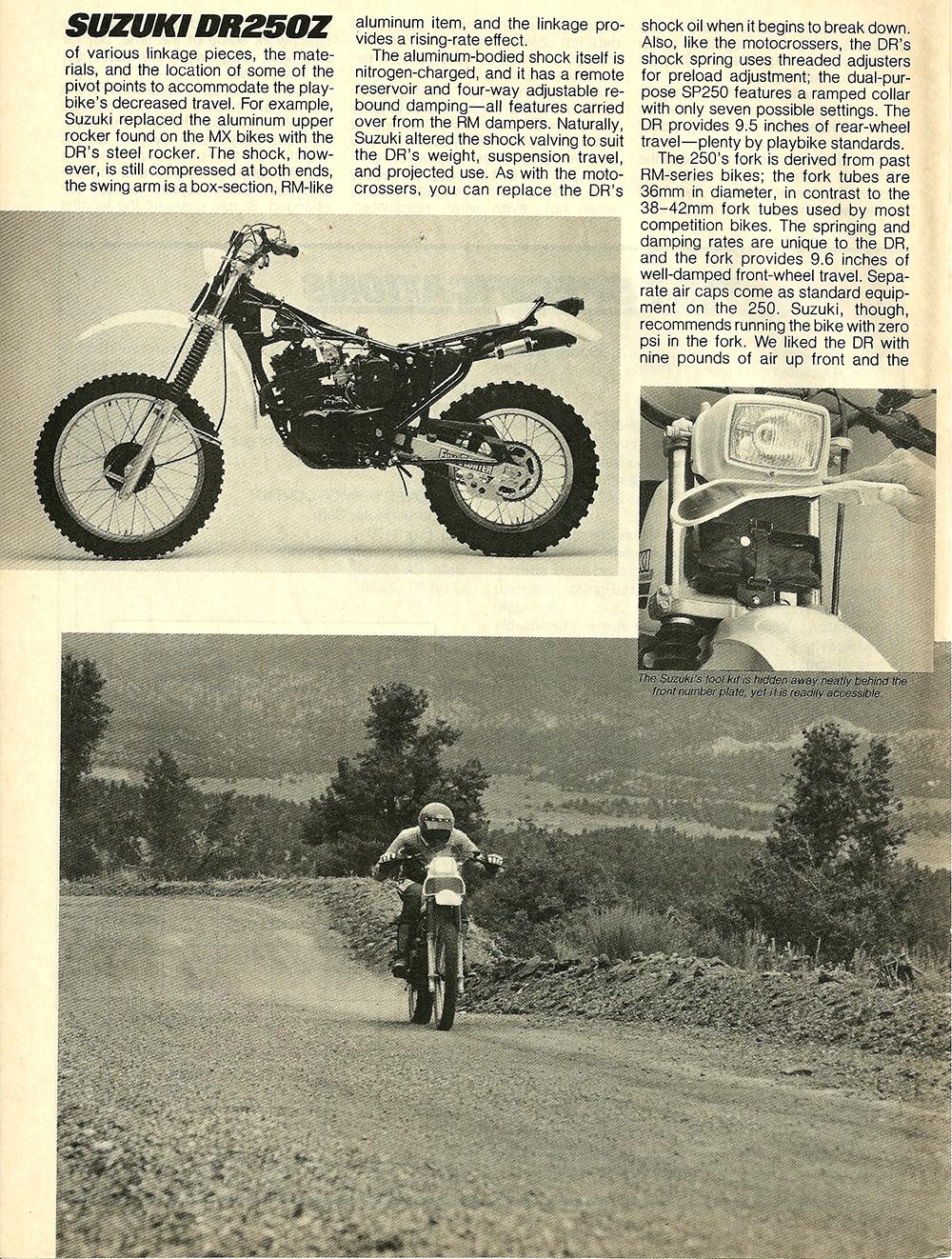 1982 Suzuki DR250Z road test 7.jpg