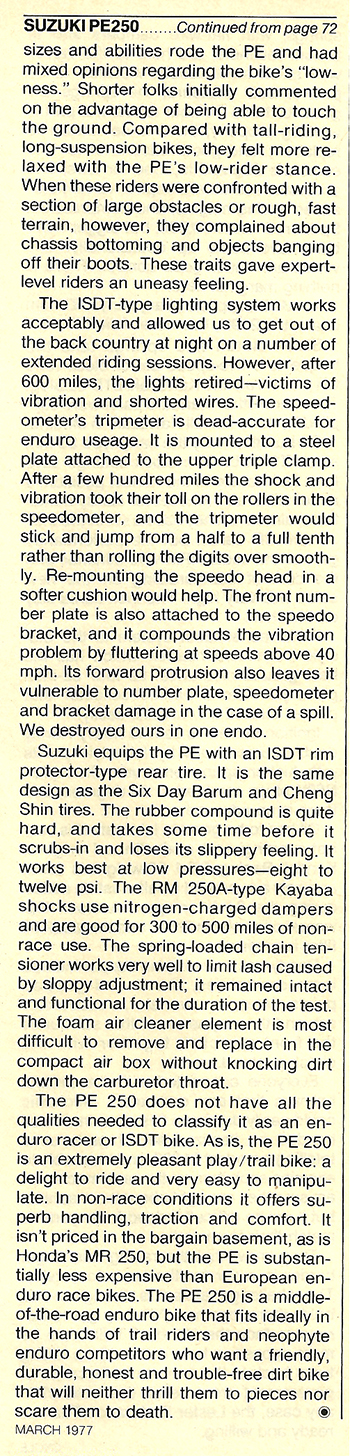 1977 Suzuki PE250 road test 7.jpg