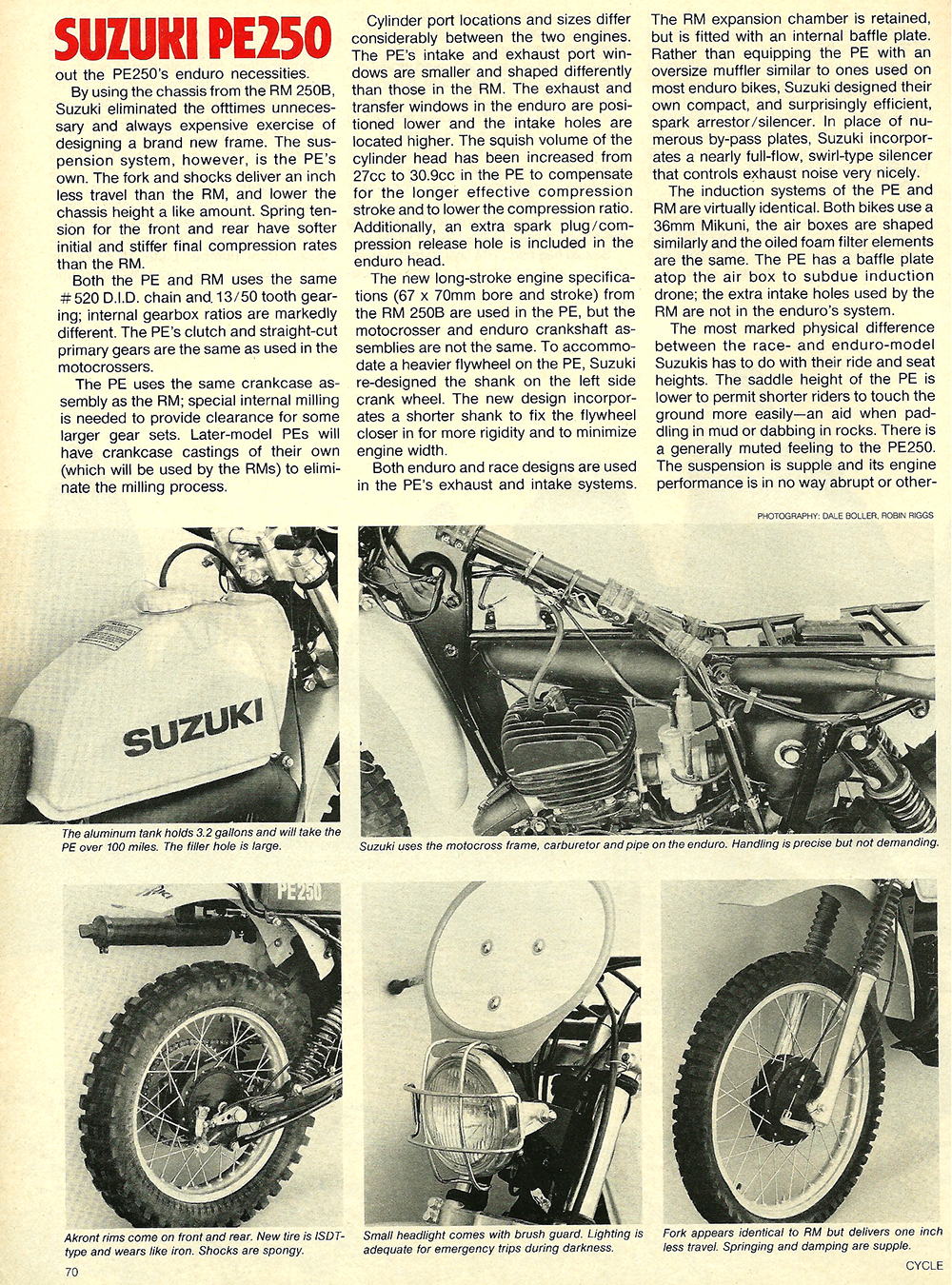 1977 Suzuki PE250 road test 3.jpg