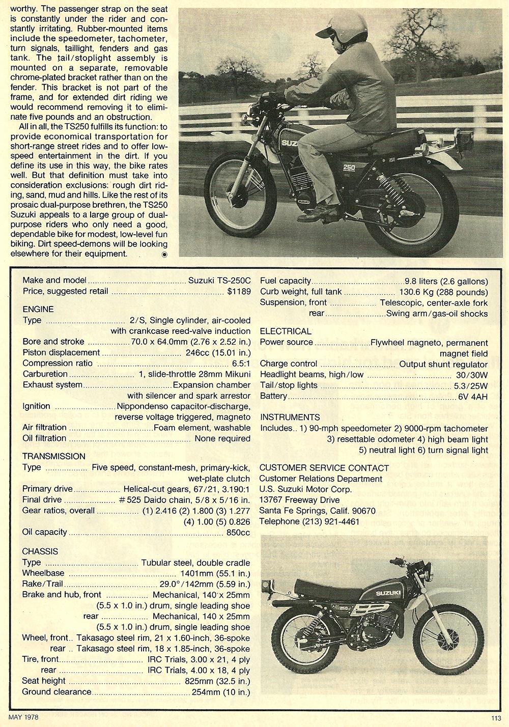 1978 Suzuki TS250 road test 05.jpg