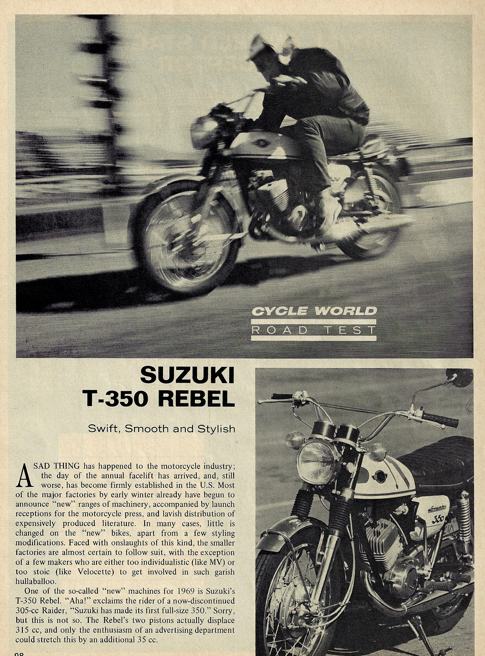1969 Suzuki T350 Rebel road test 1.jpg