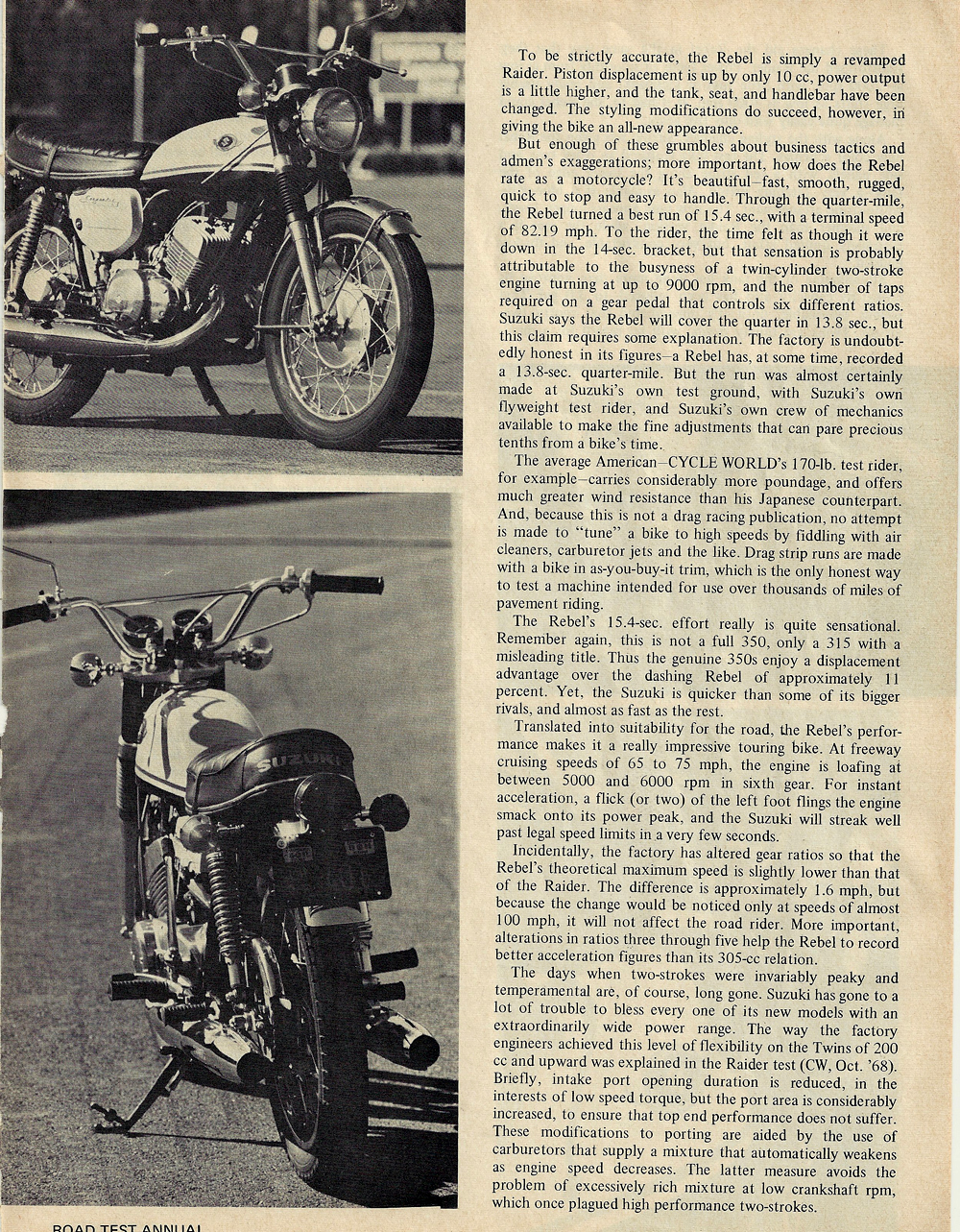 1969 Suzuki T350 Rebel road test 2.jpg