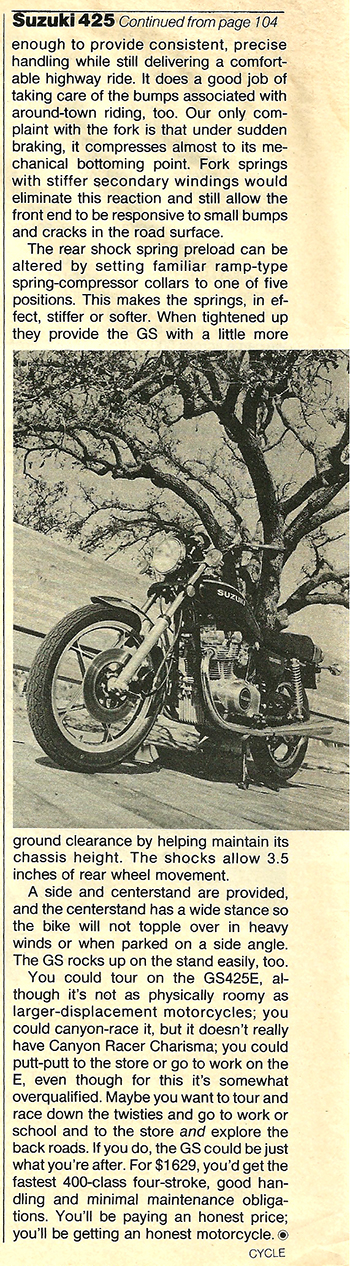 1979 Suzuki GS425E road test 08.jpg