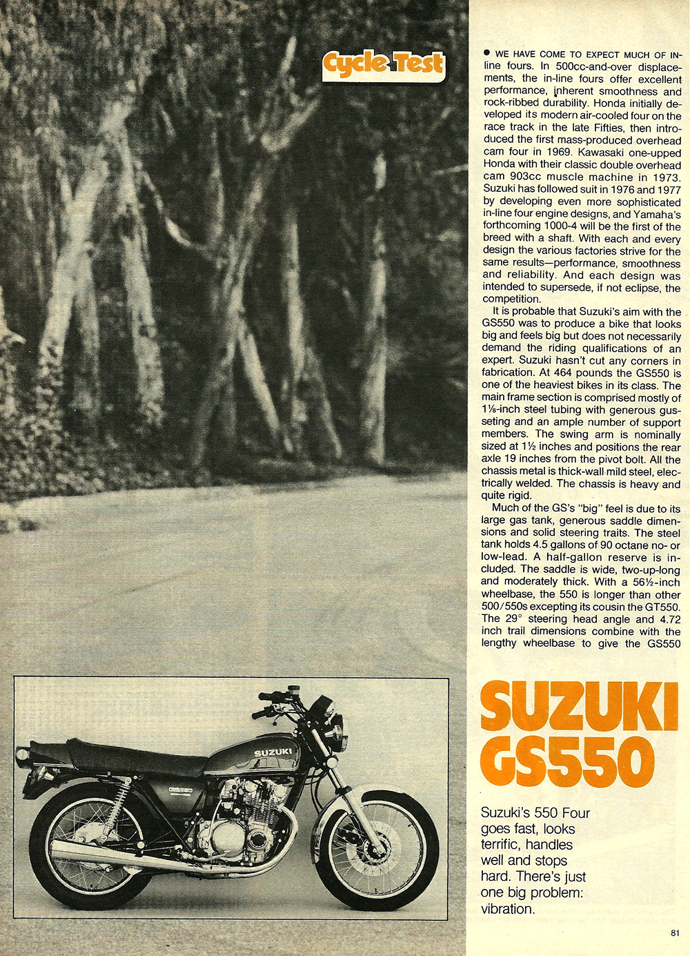 1977 Suzuki GS550 road test 02.jpg