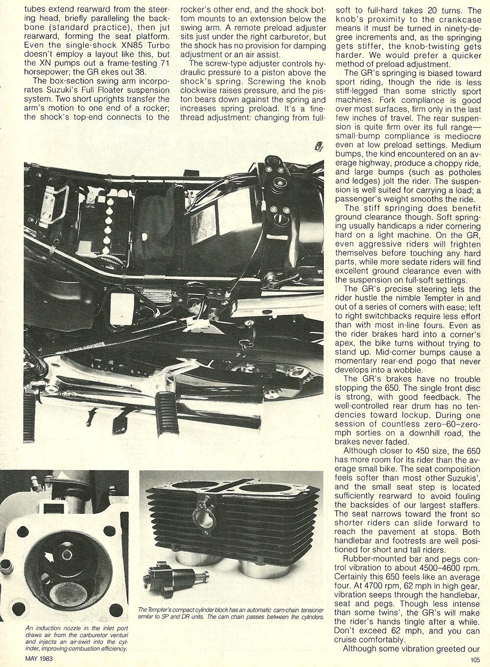 1983 Suzuki GR650D Tempter road test 6.jpg