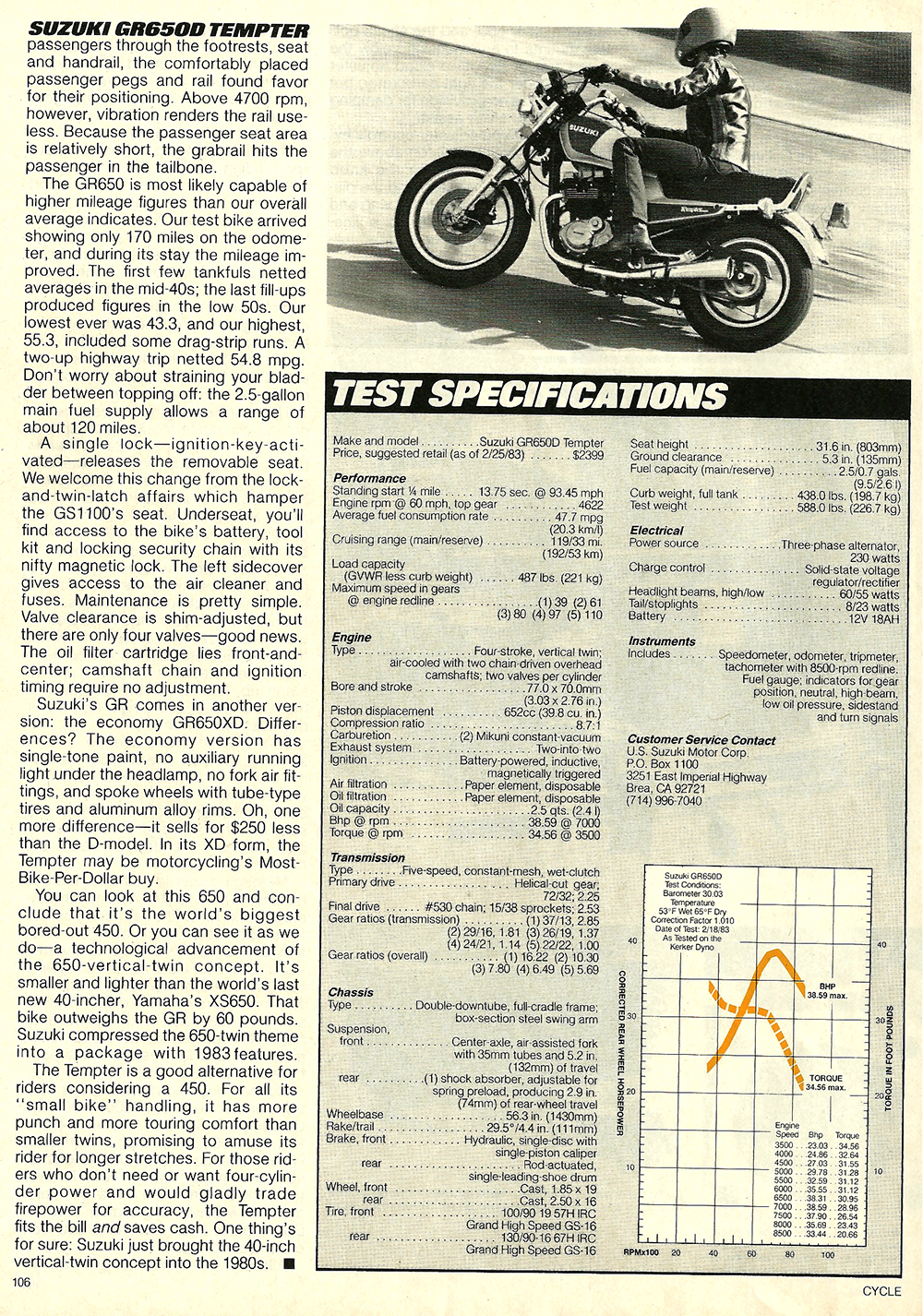 1983 Suzuki GR650D Tempter road test 7.jpg