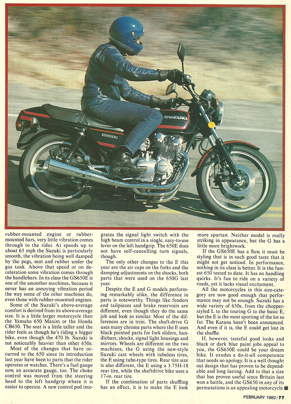 1982 Suzuki GS650E road test 04.jpg