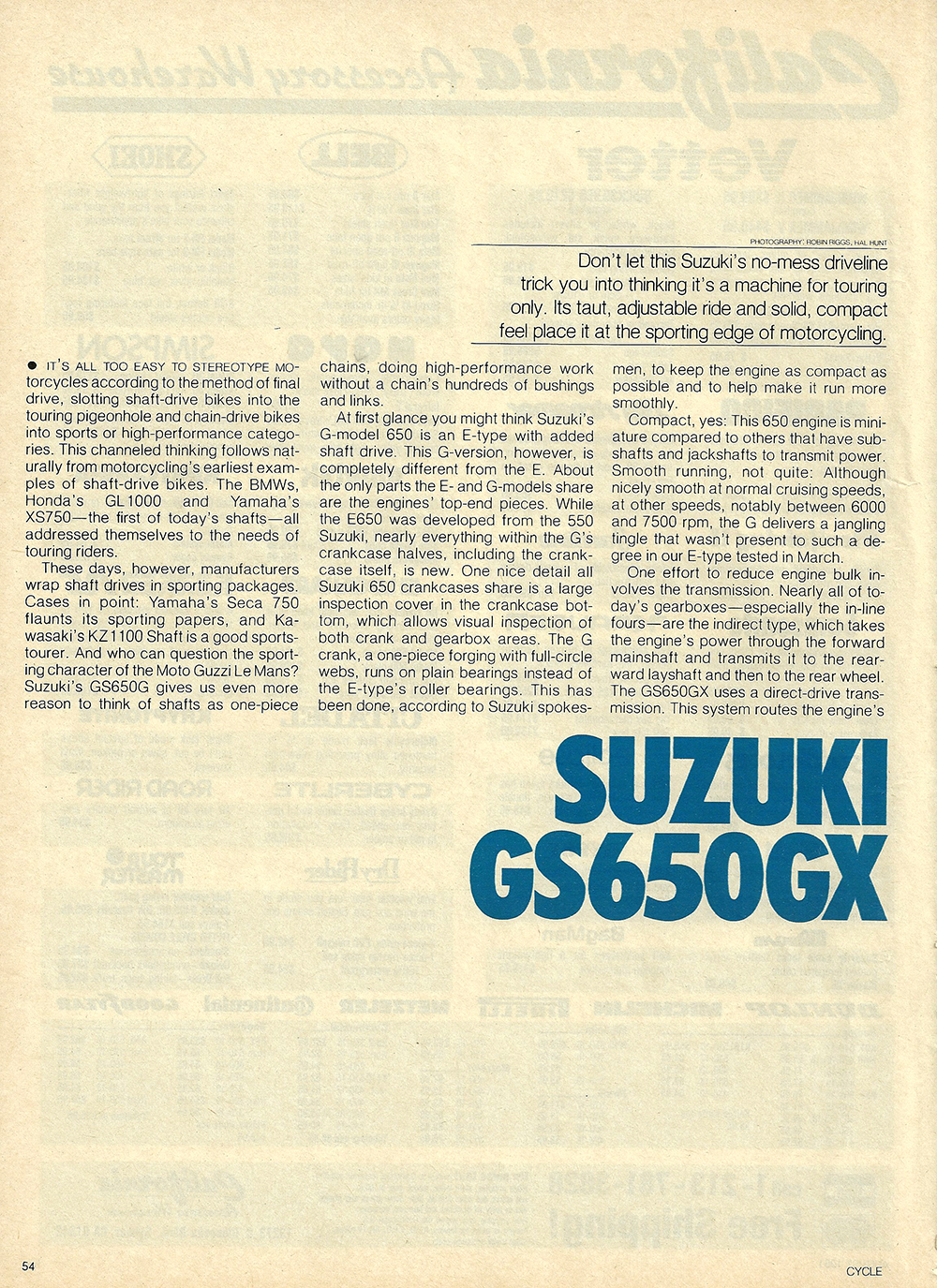 1981 Suzuki GS650 GX road test 01.jpg