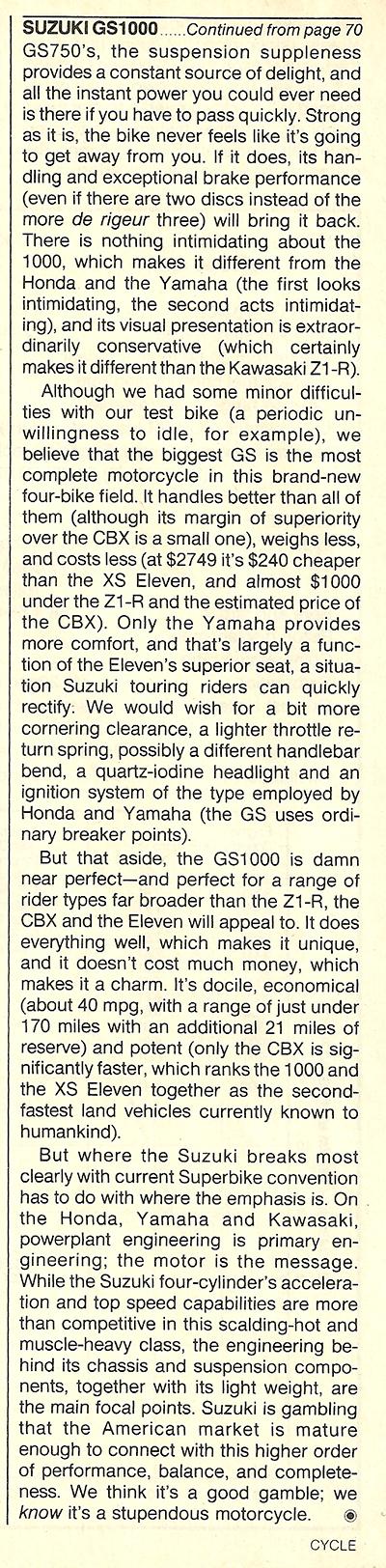 1978 Suzuki GS1000 road test 10.jpg