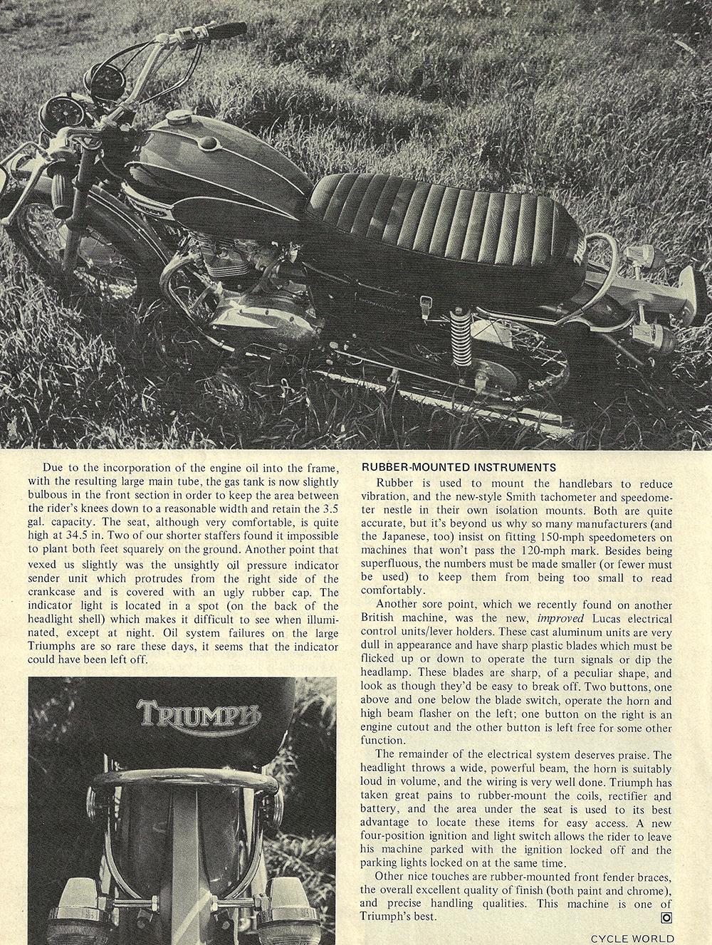 1971 Triumph T120R Bonneville road test 05.jpg