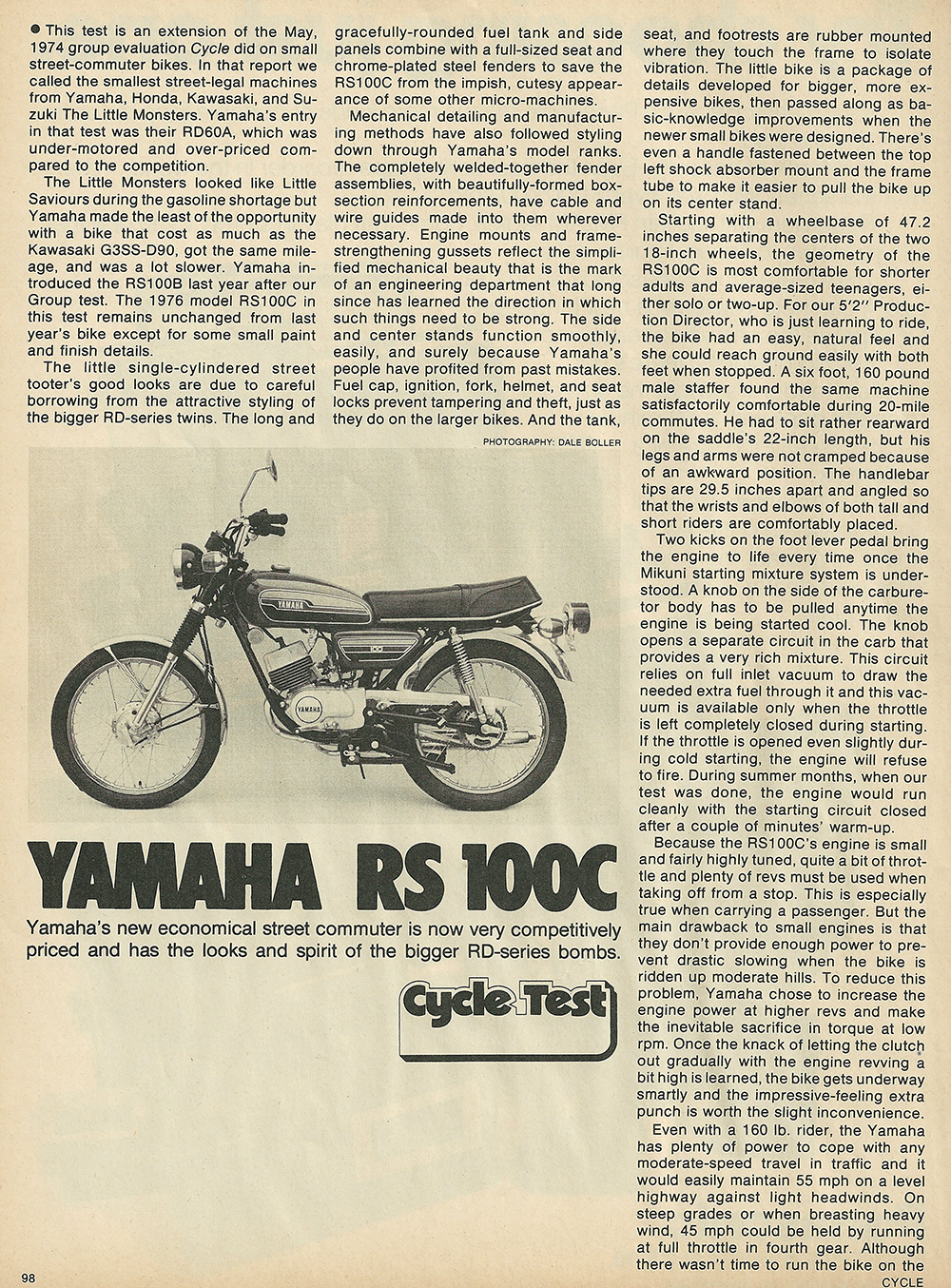 1975 Yamaha RS 100C road test 1.JPG